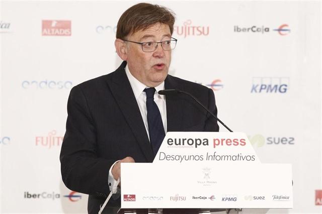 ximo-puig-defiende-una-investidura-cuanto-antes-para-no-faltar-el-respeto-a-los-ciudadanos-en-los-desayunos-de-europa-press
